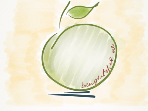 From the old saying: One apple a day keeps the doctor away.